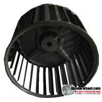 "Single Inlet Blower Wheel 5-1/8"" Diameter 3-7/16"" Width 3/8"" Bore with Clockwise Rotation SKU: 05040314-012-S-AA-CW-001"