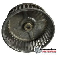 "Single Inlet Steel Blower Wheel 5-3/16"" Diameter 2"" Width 1/2"" Bore with Clockwise Rotation SKU: 05060200-016-S-AA-CW-001"