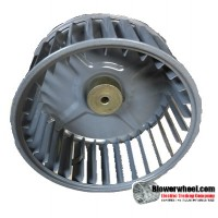 "Single Inlet Blower Wheel 5-3/16"" Diameter 2-3/8"" Width 1/4"" Bore with Counterclockwise Rotation SKU: 05060212-008-S-AA-CCW-001"