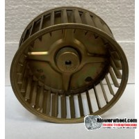 "Single Inlet Steel Blower Wheel 5-3/16"" Diameter 2-1/2"" Width 5/16"" Bore with Counterclockwise Rotation SKU: 05060216-010-S-AA-CCW-001"