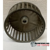 "Single Inlet Steel Blower Wheel 5-3/16"" Diameter 2-1/2"" Width 5/16"" Bore with Clockwise Rotation SKU: 05060216-016-S-AA-CW-001"