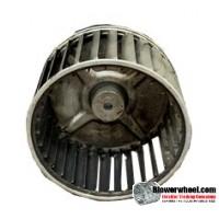 "Single Inlet Steel Blower Wheel 5-3/16"" Diameter 2-7/8"" Width ¼"" Bore with Counterclockwise Rotation SKU: 05060228-008-S-AA-CCW-001"