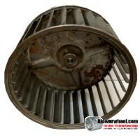"Single Inlet Steel Blower Wheel 5-3/16"" Diameter 2-7/8"" Width 5/16"" Bore with Counterclockwise Rotation- AS IS SKU: 05060228-010-S-AA-CCW-001"