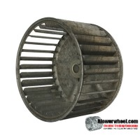 "Single Inlet Blower Wheel 5-3/16"" Diameter 3"" Width 1/2"" Bore with Clockwise Rotation SKU: 05060300-016-S-AA-CW-001"