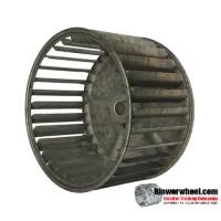 "Single Inlet Steel Blower Wheel 5-3/16"" Diameter 3"" Width 1/2"" Bore with Clockwise Rotation SKU: 05060300-016-S-AA-CW-001"