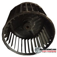 "Single Inlet Blower Wheel 5-3/16"" Diameter 3-7/16"" Width 3/8"" Bore with Clockwise Rotation SKU: 05060314-012-S-AA-CW-001"