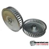 """Heavy Duty Single Inlet Steel Blower Wheel 5-1/4"""" D 1"""" W 5/16"""" Bore-Counterclockwise  rotation- with inside hub SKU: 05080100-010-S-CCW"""