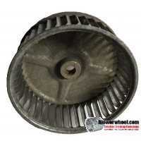 "Single Inlet Blower Wheel 5-1/4"" Diameter 2"" Width 1/2"" Bore with Clockwise Rotation SKU: 05080200-016-S-AA-CW-001"