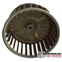 "Single Inlet Blower Wheel 5-1/4"" Diameter 2-7/16"" Width 1/4"" Bore with Clockwise Rotation SKU: 05080214-008-GS-AA-CW-001"