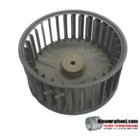 "Single Inlet Blower Wheel 5-1/4"" Diameter 2-7/16"" Width 1/4"" Bore with Counterclockwise Rotation SKU: 05080214-008-S-AA-CCW-001"