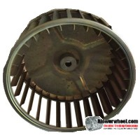 "Single Inlet Blower Wheel 5-1/4"" Diameter 2-7/16"" Width 5/16"" Bore with Clockwise Rotation SKU: 05080214-010-GS-AA-CW-001"