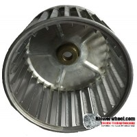 "Single Inlet Blower Wheel 5-1/4"" Diameter 3-7/16"" Width 1/2"" Bore with Clockwise Rotation SKU: 05080314-016-S-AA-CW-001"