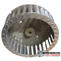 "Single Inlet Aluminum Blower Wheel 5-1/2"" Diameter 1-7/8"" Width 5/16"" Bore with Counterclockwise Rotation SKU: 05160128-010-AS-T-CCW-001"