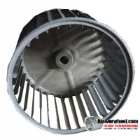 "Single Inlet Blower Wheel 5-5/8"" Diameter 3-7/8"" Width 1/2"" Bore with Clockwise Rotation SKU: 05200328-016-S-AA-CW-001"