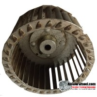 "Single Inlet Steel Blower Wheel 5-3/4"" Diameter 1-1/16"" Width 1/2"" Bore with Counterclockwise Rotation SKU: 05240102-016-S-T-CCW-001"