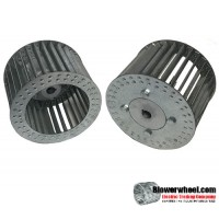 "Single Inlet Aluminum Blower Wheel 7-1/2"" Diameter 3-1/8"" Width 1/2"" Bore Counterclockwise rotation with an Inside Hub"