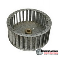 "Single Inlet Galvanized Steel Blower Wheel 6-1/8"" Diameter 2-9/16"" Width 1/2"" Bore with Counterclockwise Rotation SKU: 06040218-016-GS-T-CCW-001"