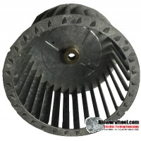 "Single Inlet Steel Blower Wheel 6-1/8"" Diameter 4-1/16"" Width 1/2"" Bore with Counterclockwise Rotation SKU: 06040402-016-S-T-CCW-001"
