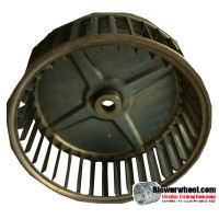 "Single Inlet Blower Wheel 6-3/16"" Diameter 2-3/8"" Width 1/2"" Bore with Clockwise Rotation SKU: 06060212-016-GS-AA-CW-001"