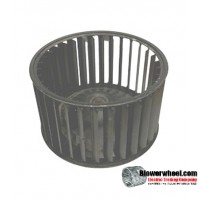 "Single Inlet Steel Blower Wheel 6-3/16"" Diameter 3-11/16"" Width 5/16"" Bore with Clockwise Rotation SKU: 06060322-010-S-AA-CW-001"