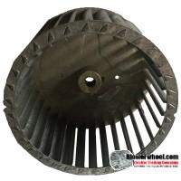 "Single Inlet Steel Blower Wheel 6-3/16"" Diameter 3-7/8"" Width 1/2"" Bore with Counterclockwise Rotation SKU: 06060328-016-S-T-CCW-001"