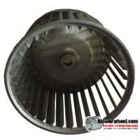 "Single Inlet Steel Blower Wheel 6-3/16"" Diameter 4-3/16"" Width 1/2"" Bore with Counterclockwise Rotation SKU: 06060406-016-S-AA-CCW-001"
