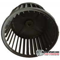 "Single Inlet Steel Blower Wheel 6-3/16"" Diameter 4-1/4"" Width 1/2"" Bore with Clockwise Rotation SKU: 06060408-016-S-AA-CW-001"