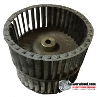 "Double Inlet Steel Blower Wheel 6-3/16"" Diameter 4-7/8"" Width 1/2"" Bore with Counterclockwise Rotation SKU: 06060428-016-S-T-CCWDW-001"