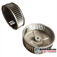 "Single Inlet Aluminum Blower Wheel 6-5/16"" Diameter 2"" Width 3/8"" Bore with Counterclockwise Rotation SKU: 06100200-012-A-AA-CCW-001"