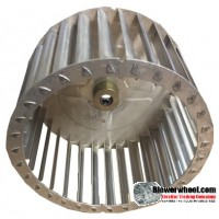 """Single Inlet Aluminum Blower Wheel 6-5/16"""" Diameter 3-3/4"""" Width 5/16"""" Bore with Clockwise Rotation with steel hub SKU: 06100324-010-AS-T-CW-001"""