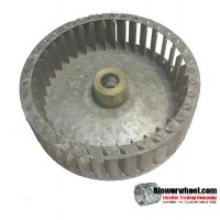 "Single Inlet Steel Blower Wheel 6-5/8"" Diameter 1-7/8"" Width 3/4"" Bore with Clockwise Rotation SKU: 06200128-024-S-T-CW-001"