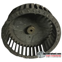 "Single Inlet Steel Blower Wheel 6-3/4"" Diameter 2-5/16"" Width 5/16"" Bore with Clockwise Rotation SKU: 06240210-010-S-T-CW-001"