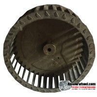 "Single Inlet Blower Wheel 6-3/4"" Diameter 2-3/8"" Width 5/16"" Bore with Clockwise Rotation SKU: 06240212-010-S-T-CW-001"