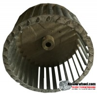 "Single Inlet Steel Blower Wheel 6-3/4"" Diameter 3-9/16"" Width 1/2"" Bore with Counterclockwise Rotation SKU: 06240318-016-S-T-CCW-001"
