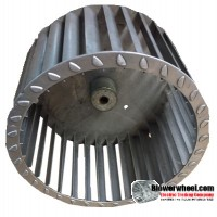 "Single Inlet Aluminum Blower Wheel 6-1/4"" Diameter 3-3/4"" Width 5/16"" Bore with Clockwise Rotation SKU: 06240324-010-A-T-CW-001"