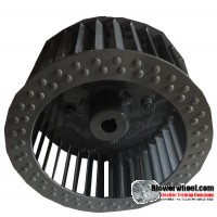 "Single Inlet Blower Wheel 7"" Diameter 3-1/8"" Width 5/8"" Bore with Clockwise Rotation SKU: 07000304-020-S-T-CW-001"