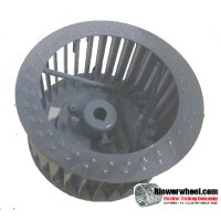 """Single Inlet Steel Blower Wheel 7"""" D 4-1/8"""" W 5/8"""" Bore-Counterclockwise  rotation- with inside hub and re-rods SKU: 07000404-020-HD-S-CCW-R"""