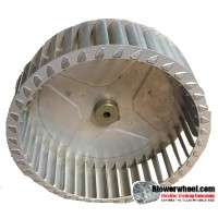 "Single Inlet Blower Wheel 8"" Diameter 2-5/16"" Width 5/16"" Bore with Counterclockwise Rotation SKU: 08000210-010-A-T-CCW-001"
