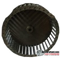 "Single Inlet Blower Wheel 8"" Diameter 2-7/8"" Width 1/2"" Bore with Counterclockwise Rotation SKU: 08000228-016-S-T-CCW-001"