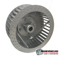 "Single Inlet Steel Blower Wheel 26-1/4"" D 12-1/2"" W 1-3/16"" Bore-Counterclockwise  rotation- with inside hub  and Re-rods -SKU: 26081216-106-HD-S-CCW-R"