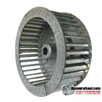 "Single Inlet Steel Blower Wheel 6-1/4"" D 4-1/8"" W 3/8"" Bore-Counterclockwise  rotation- with inside hub SKU: 06080404-012-HD-S-CCW"