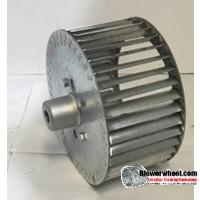 "Single Inlet Steel Blower Wheel 13-1/4"" D 6"" W 1-1/8"" Bore -Outside Hub- Clockwise Rotation and ring SKU: 13080600-104-HD-S-CW-O-W"