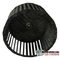 "Single Inlet Blower Wheel 8"" Diameter 4-5/8"" Width 1/2"" Bore with Clockwise Rotation SKU: 08000420-016-S-T-CW-001"