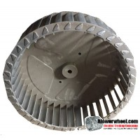 "Single Inlet Aluminum Blower Wheel 8-1/8"" Diameter 2-3/8"" Width 5/16"" Bore with Counterclockwise Rotation with steel hub SKU: 08040212-010-AS-T-CCW-001"