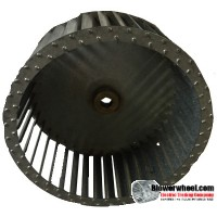 "Single Inlet Blower Wheel 8-1/2"" Diameter 4"" Width 5/8"" Bore with Clockwise Rotation SKU: 08160400-020-S-T-CW-001"