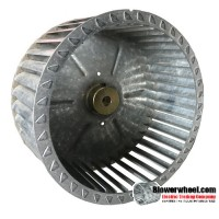 "Single Inlet Blower Wheel 8-1/2"" Diameter 4-7/8"" Width 1/2"" Bore with Clockwise Rotation SKU: 08160428-016-S-T-CW-001"