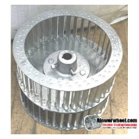 "Double Inlet Galvanized Steel Blower Wheel 8-1/2"" D 8-7/8"" W 1/2"" Bore with re-rods SKU: 08160828-016-HD-GS-CCWDW"