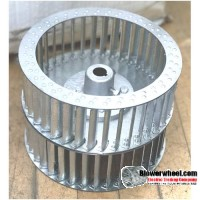 "Double Inlet Galvanized Steel Blower Wheel 8-1/2"" D 8-7/8"" W 1/2"" Bore with re-rods SKU: 08160828-016-HD-GS-CWDW"