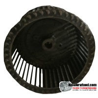 "Single Inlet Blower Wheel 9-1/8"" Diameter 5"" Width 7/8"" Bore with Clockwise Rotation SKU: 09040500-028-S-T-CW-001"