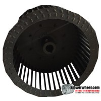 "Single Inlet Blower Wheel 9-1/4"" Diameter 5"" Width 7/8"" Bore with Clockwise Rotation SKU: 09080500-028-S-T-CW-001"